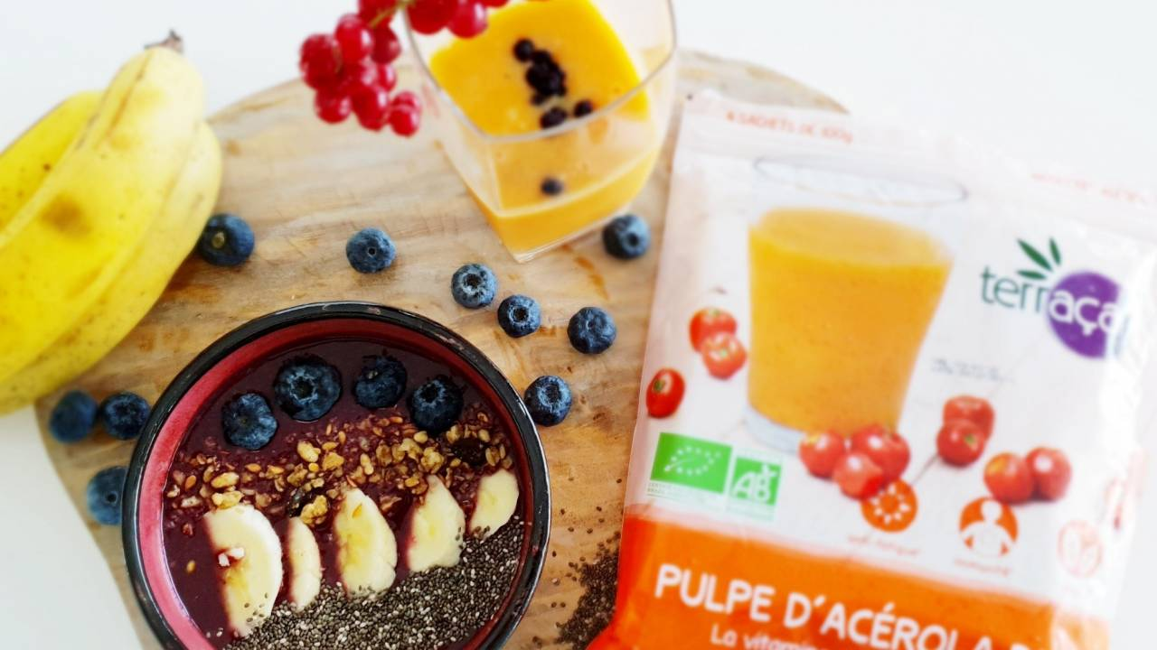 Nossa Fruits : smoothie, buddha bowl, cocktail... aux baies d'acérola, guarana et açaï, les superfruits surgelés bio et healthy