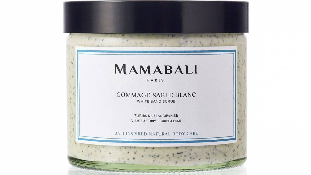 Gommage naturel pour le corps Mamabali au sable blanc - Made In France